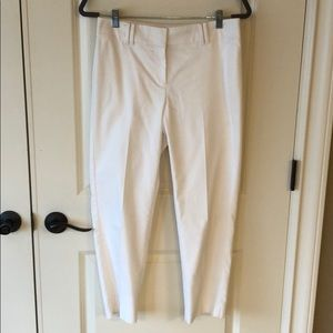 Ann Taylor White Lined Trouser